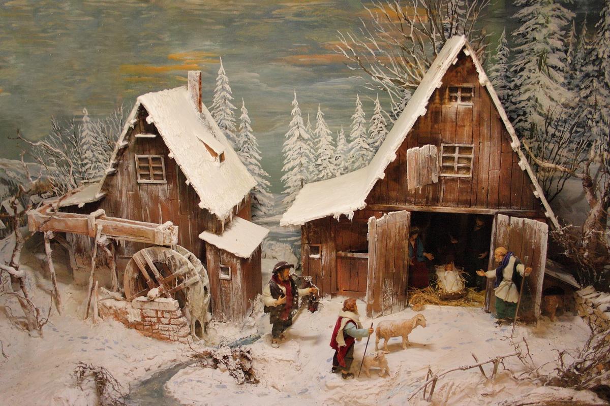 Weihnachtskrippen - Dekoration - einebinsenweisheit